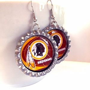 Washington REDSKINS Handmade Football Earrings